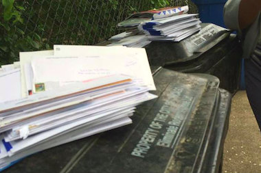 A North Park resident found his dumpster filled with undelivered mail.