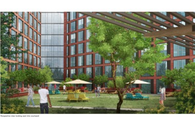 A rendering of the courtyard in the proposed Lincoln Centre development.