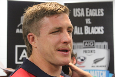 U.S. rugby player Louis Stanfill said he's looking forward to moving up to Soldier Field after previously playing at Toyota Park in Bridgeview.