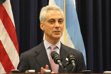 Mayor Rahm Emanuel said he opposes plans to close streets near Wrigley Field on game days.