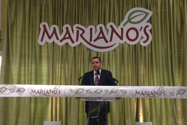 The ribbon was cut at the new Mariano's in McKinley Park.