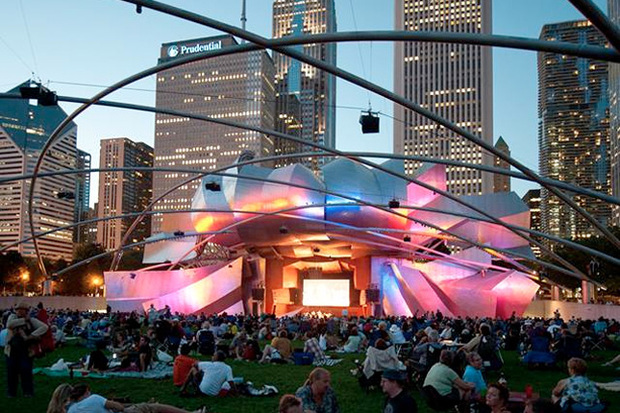 Jay Pritzker Pavilion. The movie series kicked off June 24.