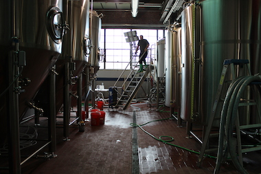 The Pilsen brewery, at 2136 S. Peoria St., started brewing its first beers Thursday.