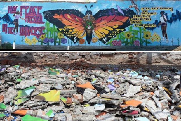 The last of Desi Mundo's murals was destroyed last week. Mundo has painted countless murals on the South Side over a 20 year career making public art.