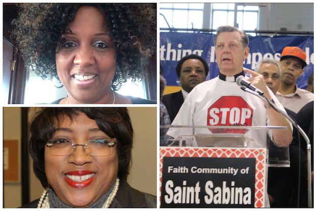 The Rev. Michael Pfleger, pastor of St. Sabina Church in Auburn Gresham, said he is not endorsing incumbent Ald. Latasha Thomas for the 2015 election.