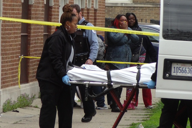 A man was found shot in the head in the 900 block of East 81st Street about 7:15 a.m Sunday.