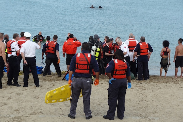 The incident occurred near 31st Street Beach shortly before 4 p.m. Tuesday, fire officials said.