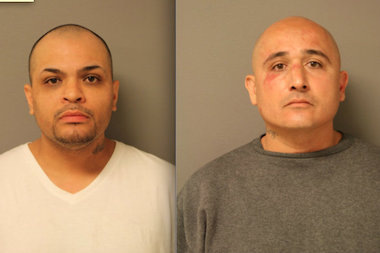 Carlos Nunez (l.) and Anthony Sanchez, two parolees, were busted by police after robbing a McKinley Park RadioShack thanks to a GPS tracking system in one of the stolen cellphones.