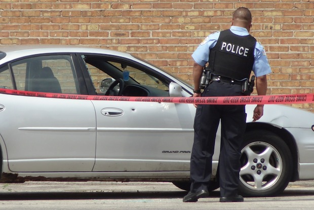 The shooting occurred in the 9300 block of South Stony Island Avenue about 11:35 a.m., police said.