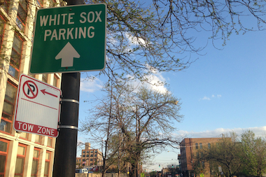 A White Sox parking sign in West Town?