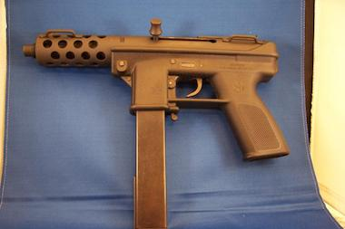 A TEC-9 9 mm weapon can be seen in this file photo.