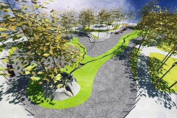 New renderings show a high-concept design for Fred Anderson Park, including its dog-friendly area.