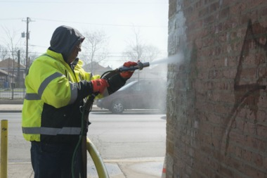 The city will spend almost $5 million on graffiti removal this year.