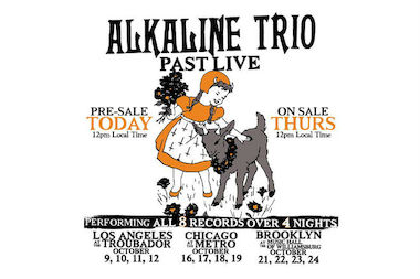 Alkaline Trio will play four Chicago shows in October.