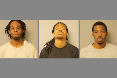 Antione Golden, Darnell Russ, and Lekendrick Williams are accused of two armed robberies Wednesday, June 4.