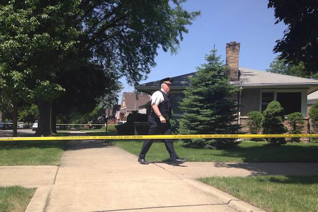 "Three people were killed and two others were wounded after an apparent ""domestic"" shooting on the Southwest Side Monday morning, police said."