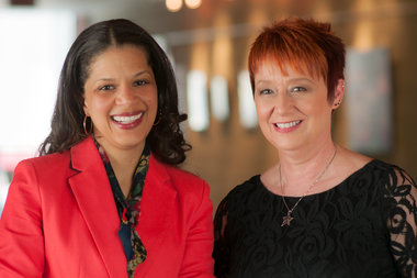 Heather Ireland Robinson (l.) took over as executive director of the Beverly Arts Center on Feb. 24. In April, she named Shellee Frazee 55, as the center's first artistic director.