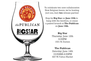 Big Star and Publican debut two brews this week in collaboration with New Belgium Brewing.