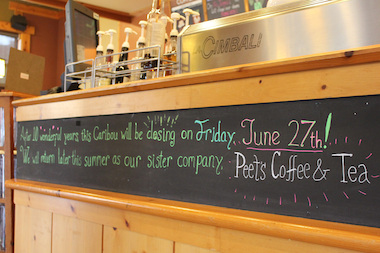 The Caribou Coffee in Boystown will close its doors June 27 and reopen later this summer as Peet's Coffee & Tea.