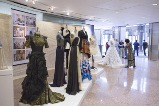 Columbia College fashion students' designs will adorn the lobby of Chicago's tallest building.