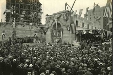 The cornerstone laying ceremony on June 7, 1924.