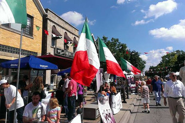 The fest runs Friday through Sunday and features Italian food and music.