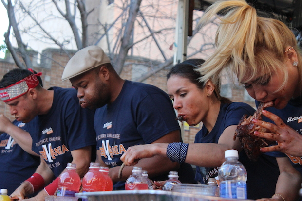 Miki Sudo won her second title at the fifth installment of the rib-eating competition at Ribfest Friday.