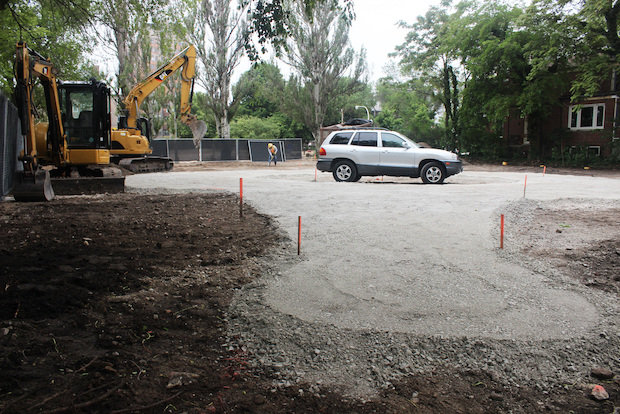 "Ald. Joe Moore said construction of the $275,000 park had been ""fast-tracked"" by the city."