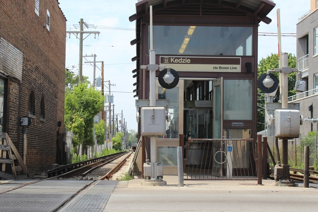 "Bicyclist Ronayne Thomas, of Logan Square, was killed when he was hit by an ""L"" train near the Kedzie Brown Line stop."
