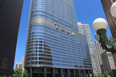 Donald Trump never filled the riverfront retail space in his namesake tower, affording him a big tax break.
