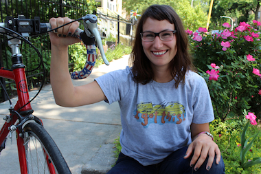 Jenn Gibbons, executive director of Recovery on Water, survived wind, waves and a sexual assualt during her epic journey around Lake Michigan in 2012. Now, she plans to bicycle around the lake with 30 other cyclists to raise money for a Bridgeport boathouse.