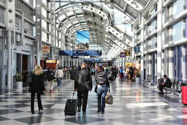 About 20 percent of O'Hare's Thanksgiving flights end up delayed, according to a new report.