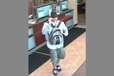 The FBI says this man robbed a Chase Bank in Old Town Friday.