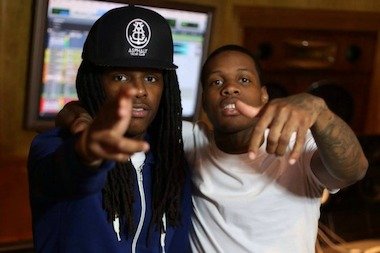 McArthur Swindle, aka rapper OTF Nunu, left, is seen with his cousin Lil Durk, right.
