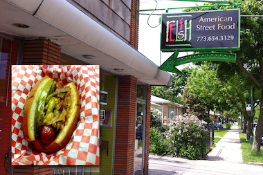 Relish American Street Food opened at 7210 N. California Ave.