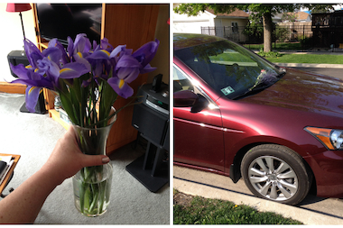 After finding roses on her car for six weeks, Jefferson Park woman says getting flowers from a stranger is better than knowing who's giving them.