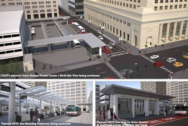 The Chicago Department of Transportation's proposed renovations to Union Station, from a plan released in December 2013.