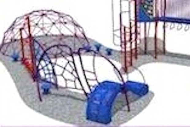 The playground will be built Aug. 9, in time for the 2014-15 school year.