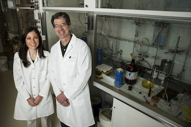Paulina Rincon-Degadillo (l.) is the first University of Chicago student to graduate with a doctorate in molecular engineering. She started at the University of Wisconsin-Madison under professor Paul Nealey before he was recruited to the University of Chicago.