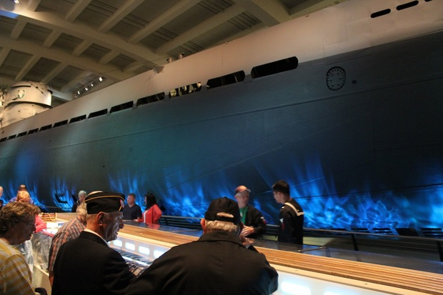 Veterans visited the U-505 German submarine at the Museum of Science and Industry on Wednesday to celebrate the 70th anniversary of is capture.