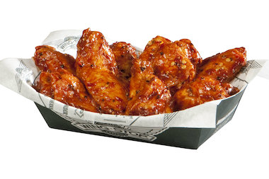 "A tray of ""atomic"" wings will be among the offerings at Wingstop, which is scheduled to open in the 3000 block of South Halsted Street later this summer."