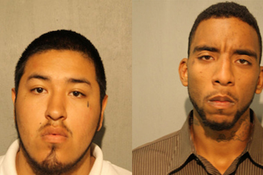 Alger Sanchez (l.) and Anton Aseves are charged with attempted murder after allegedly taking part in a shooting that critically injured a toddler.