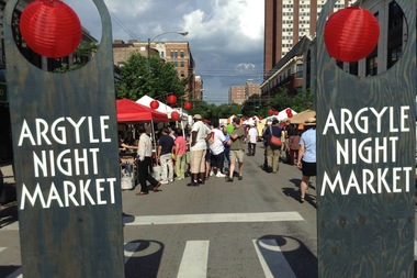 The Argyle Night Market kicks off next Thursday.