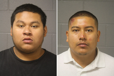 Christian Alvarez (l.) and Antonio Castaneda are accused of killing Sam Aguilar in a Chicago Lawn drive-by.