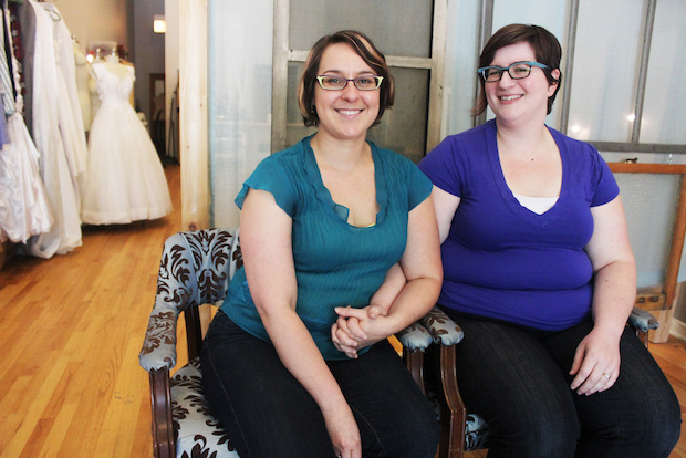 "The wife-and-wife couple behind wedding planning service Crafty Broads said they can breathe  ""a sigh of relief"" now that same-sex couples are allowed to marry in Illinois."