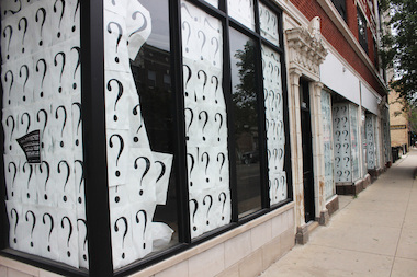 The storefronts at 1248-60 W. Devon Ave. have been covered with question marks for years.