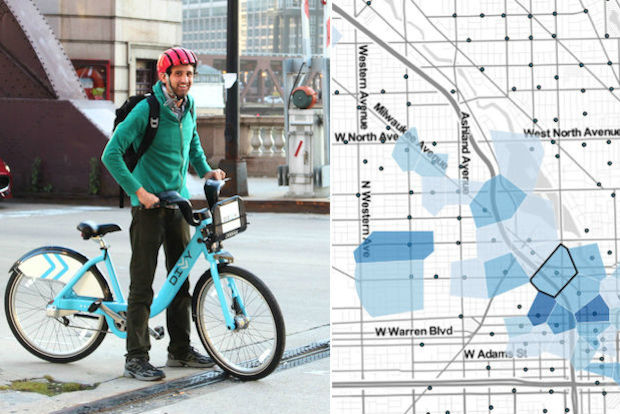 Divvy Map on