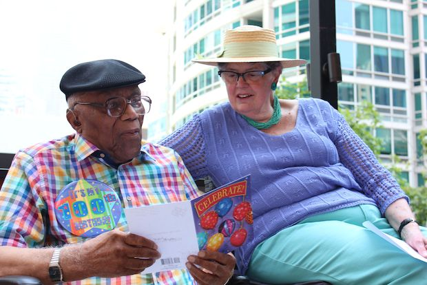 Longtime Streeterville resident James Braxton celebrated his 100th birthday at a party with his McClurg Court Center neighbors.