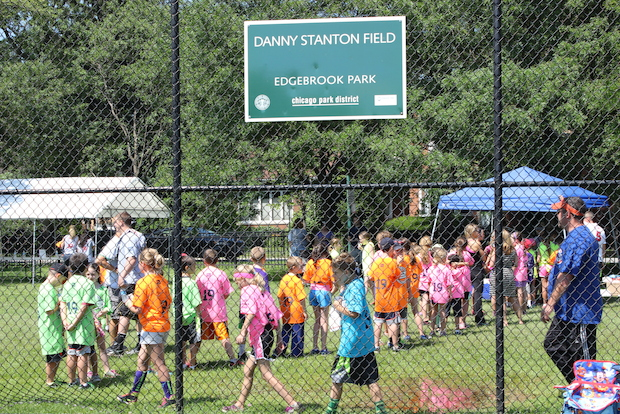Hundreds of kids played kickball to honor the memory of 4-year-old Danny Stanton, who died in 2009.