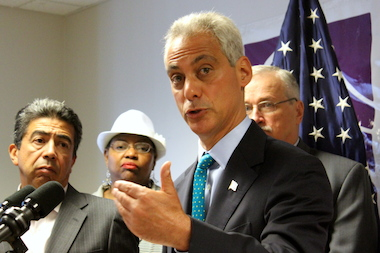 Mayor Rahm Emanuel said the minimum wage is a women's issue, as most minimum-wage workers are women.